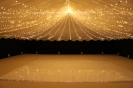 fairy light canopy on the dance floor