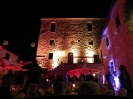 architectural lighting for walls for events in Tuscany