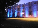 LED lighting of the in Castello del Meleto for a wedding party