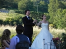 Molly e Will - wedding bride and groom arrive in Tuscany
